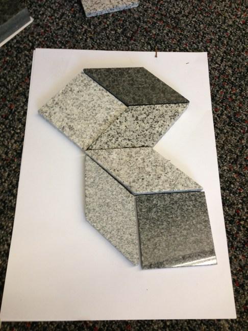 Tiny bits of granite