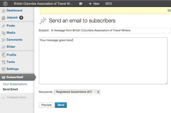 send email to members