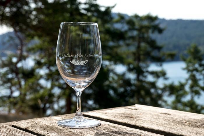 Galiano wine festival glass -- K Cullen photo