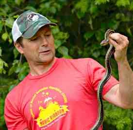 Leslie Anthony and Garter Snake Bella Coola BC