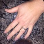 Today I put my wedding ring on