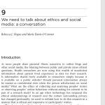 We need to talk about ethics and social media: a conversation