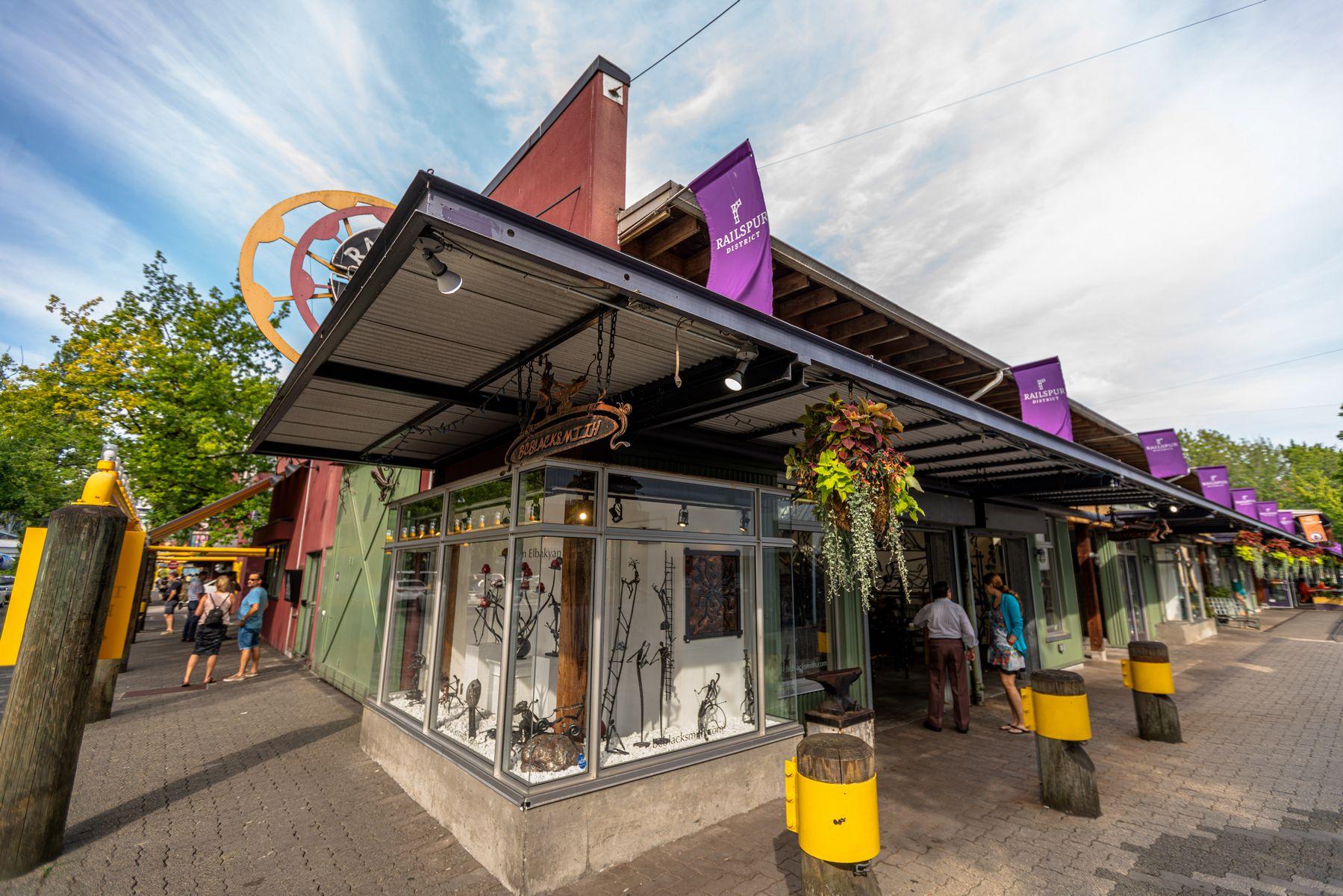 Blacksmith Storefront on Granville Island