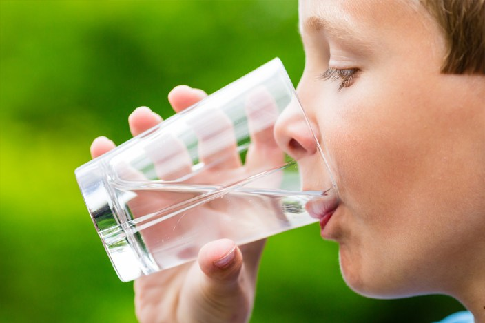 Image result for kid drinking water