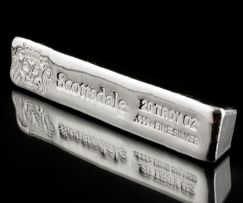 20 Oz Scottsdale Long Cast Bar B C Bullion