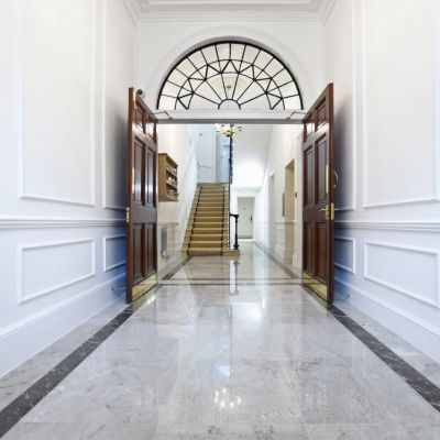 Commercial marble office renovation in central London