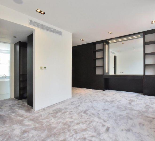 Knightsbridge bedroom interior design, property construction property renovations Bromtpon Cross construction