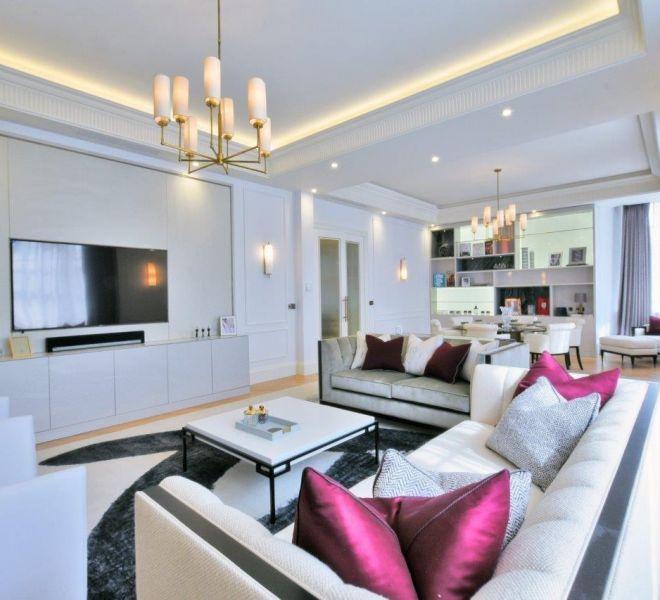 Open plan luxury apartment in Mayfair