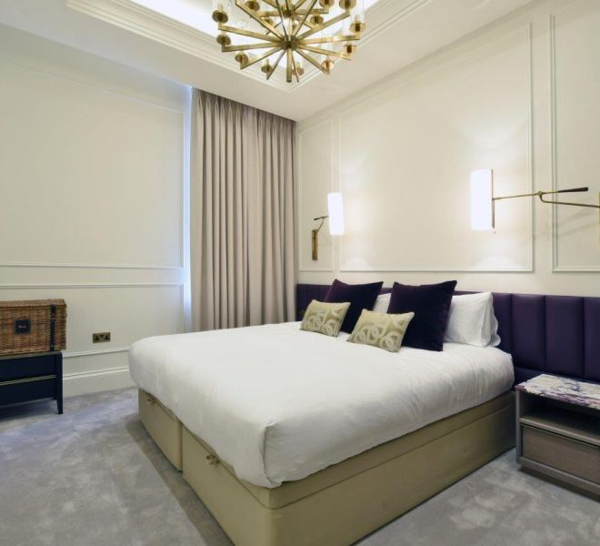 Master bedroom interior design in Mayfair, London