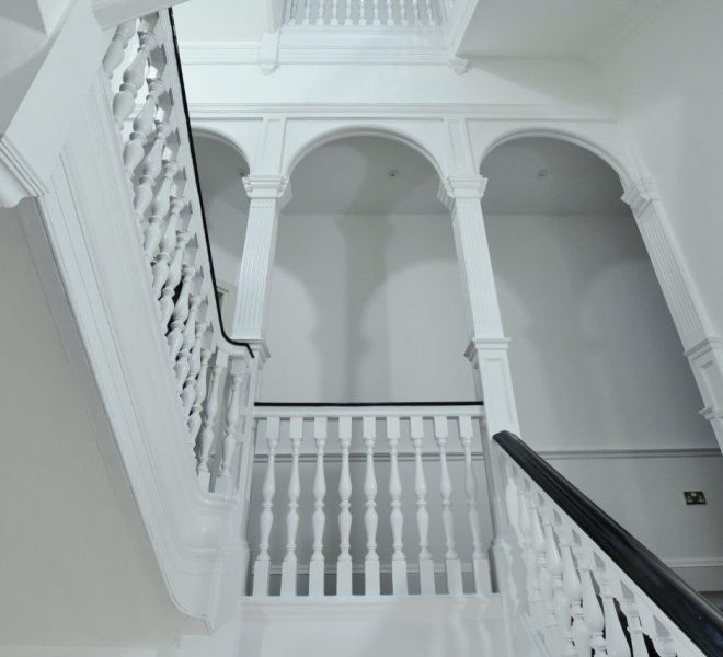 Staircase renovation in Mayfair by Brompton Cross Construction