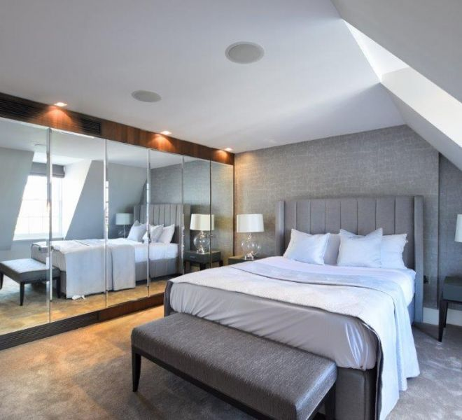Pont street bedroom interior design
