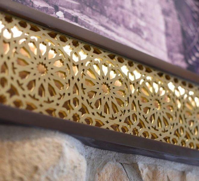 Bespoke picture frame design in restaurant renovation
