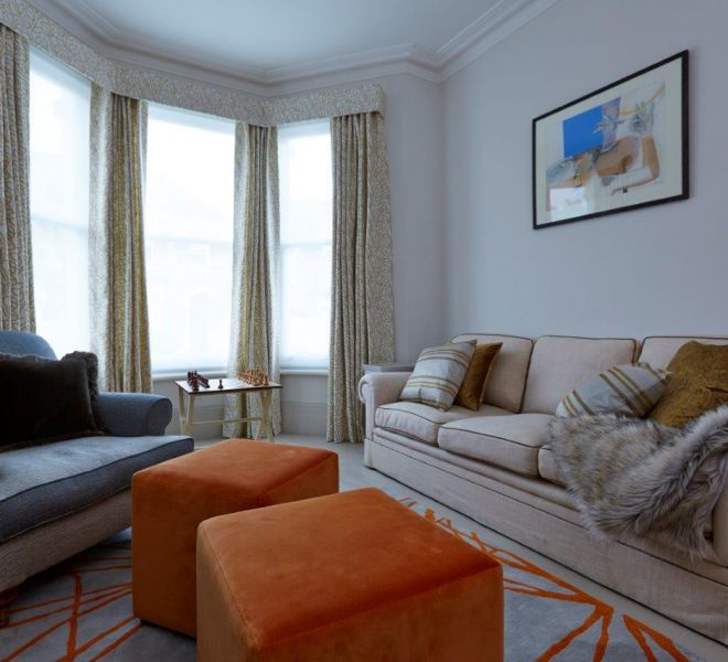 Clapham property renovation living room interior design service