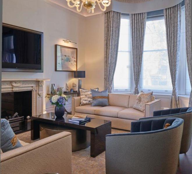 queens gate garden high end living room interior design