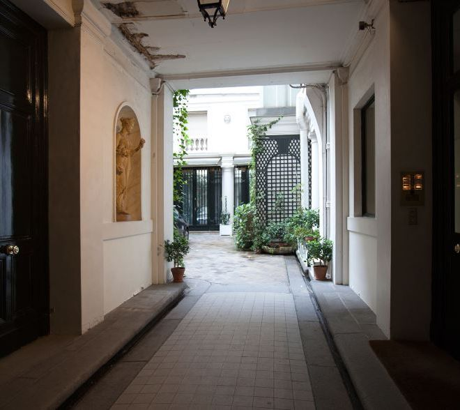 Parisian courtyard residential property