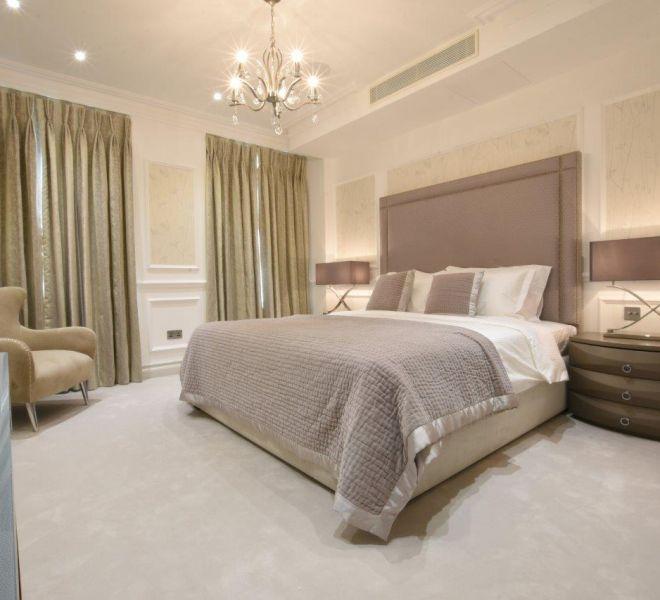 Construction companies work on master bedroom