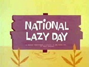 Image result for national lazy day
