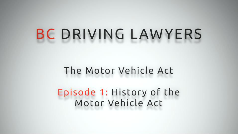 Motor Vehicle Act Video Series: Episode 1 – History of the Motor Vehicle Act