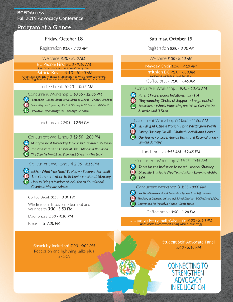 Sep 22 2019 BCEDAccess Fall Conference program2