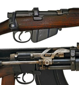 Charlton Automatic Rifle A fully automatic conversion of the Lee–Enfield