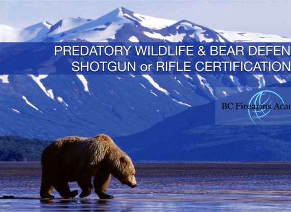 Predatory Wildlife & Bear Defence – Shotgun & Rifle Certification – May 22