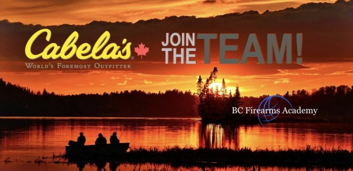 Cabela's Abbotsford is Hiring March 2018