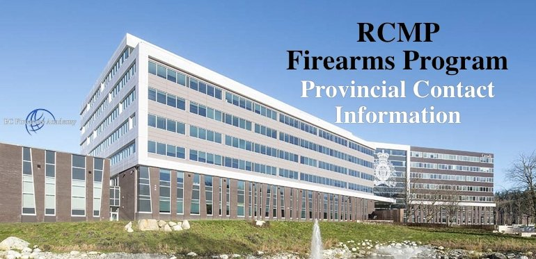 Firearms Program Provincial Contact Information