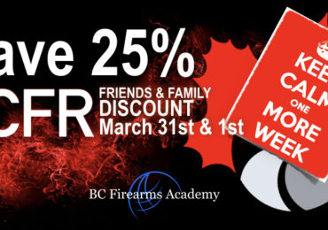 Only 1 More Week! 25% Off PAL Course for CCFR Members Friends and Family March 31st & April 1st