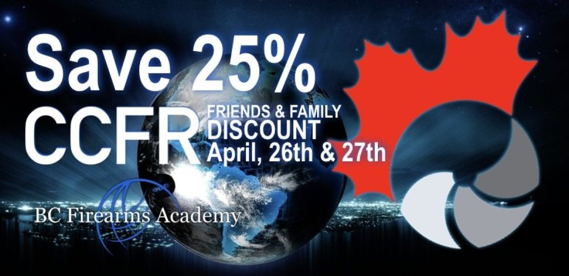 25% Off PAL Course for CCFR Members Friends and Family April 26th & 27th