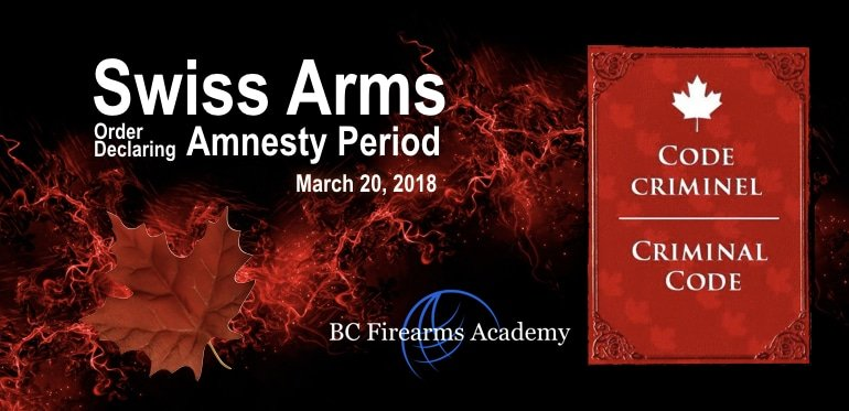 Swiss Arms Amnesty Order Declaring an Amnesty Period