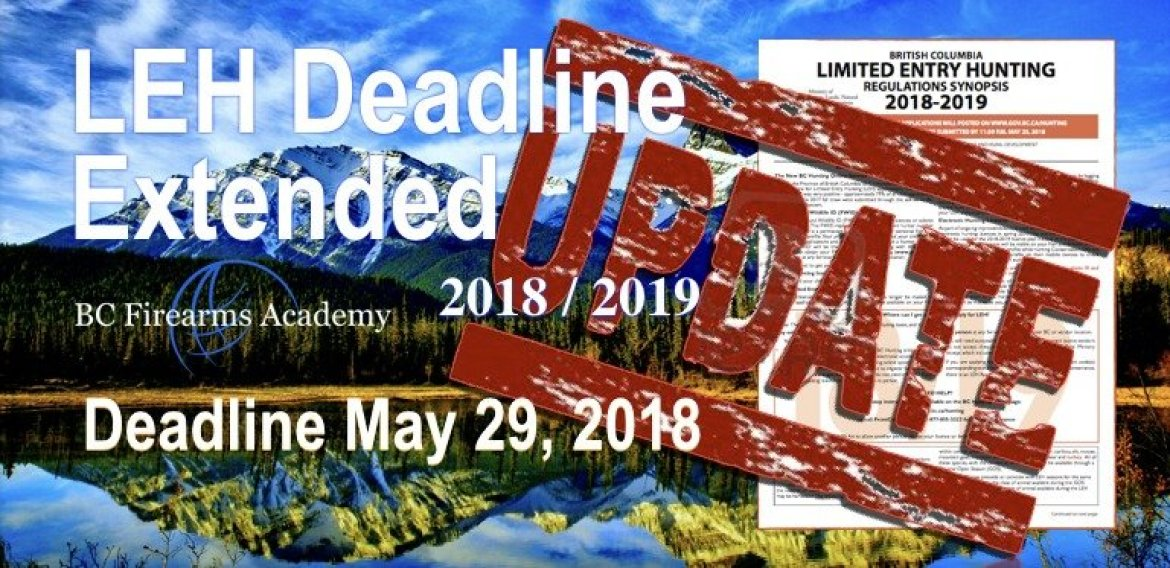 Limited Entry Hunting (LEH) Deadline Extended