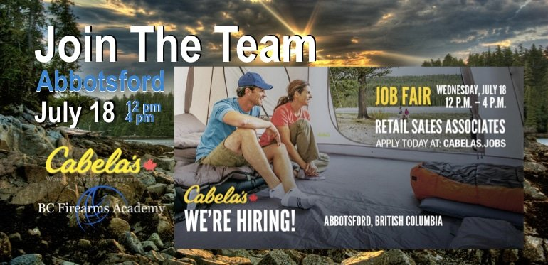 CABELA'S ABBOTSFORD IS HIRING & JOB FAIR July 2018