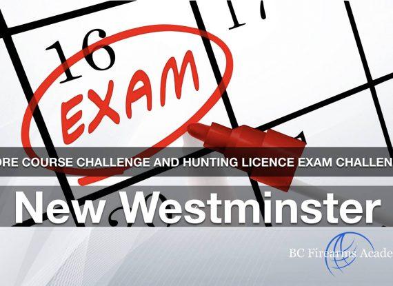 CORE CHALLENGE: Hunting License Exam Challenge New Westminster Sunday Feb 2