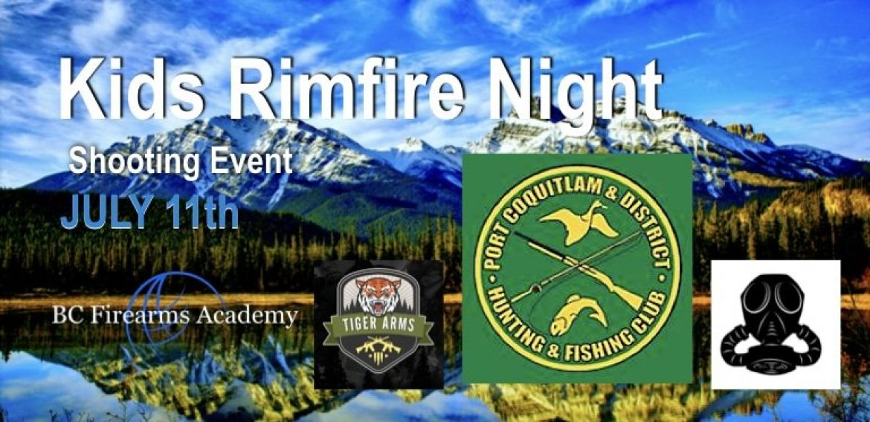 Kids Rimfire Night July 11th 2018