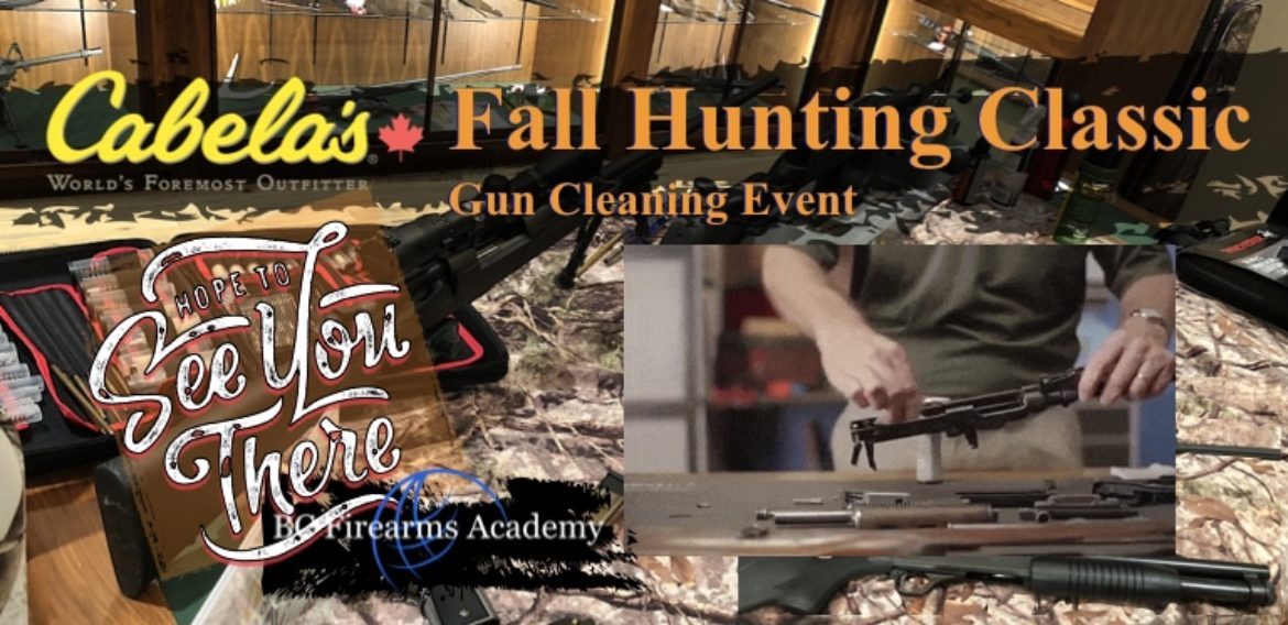 Reminder! Fall Hunting Classic Gun Cleaning Event August 11 2018