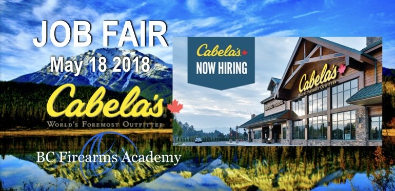 CABELA'S ABBOTSFORD JOB FAIR AUGUST 10th 2018