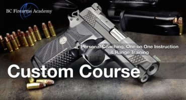 Custom Personal Coaching, One on One Instruction & Range Training