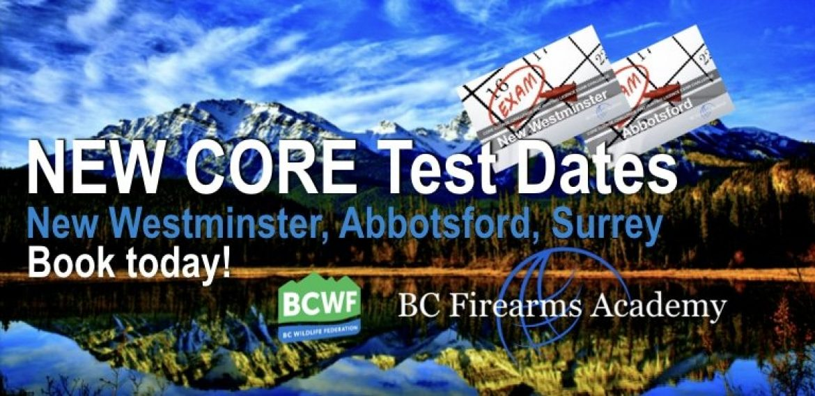 NEW CORE Test Dates in New Westminster, Abbotsford, Surrey Hunter Challenge Exams