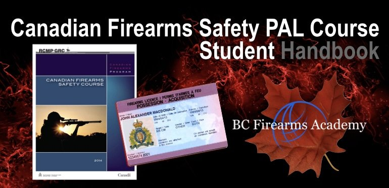 Canadian Firearms Safety PAL Course Student Handbook