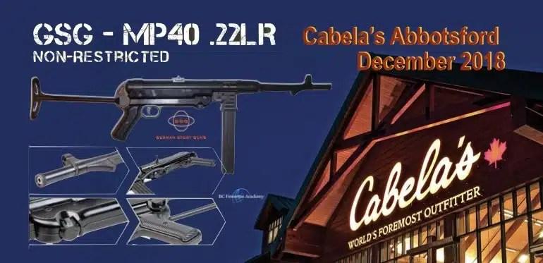 GSG-MP40 .22LR Coming to Cabela's Canada December 2018