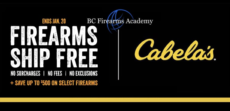 Cabelas is offering up to $500 off on select firearms, PLUS, free shipping! Ends Jan 20, 2019
