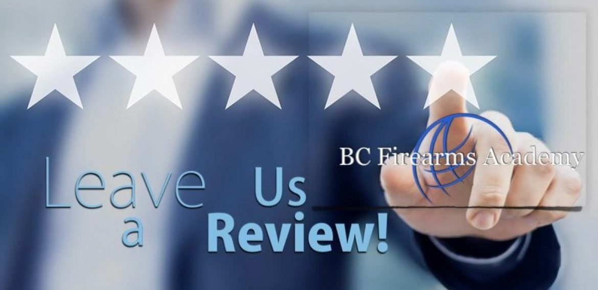 Leave Us A Review and Help The Firearms Community Grow