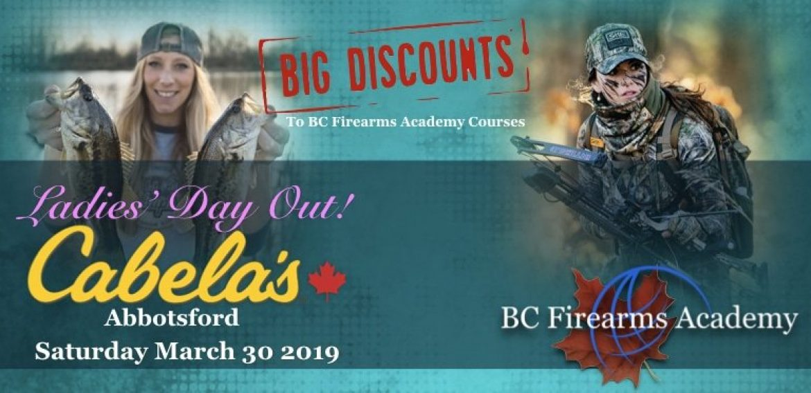 BC Firearms Academy Discounts for Participants of Cabela's Ladies' Day Out Saturday March 30th!