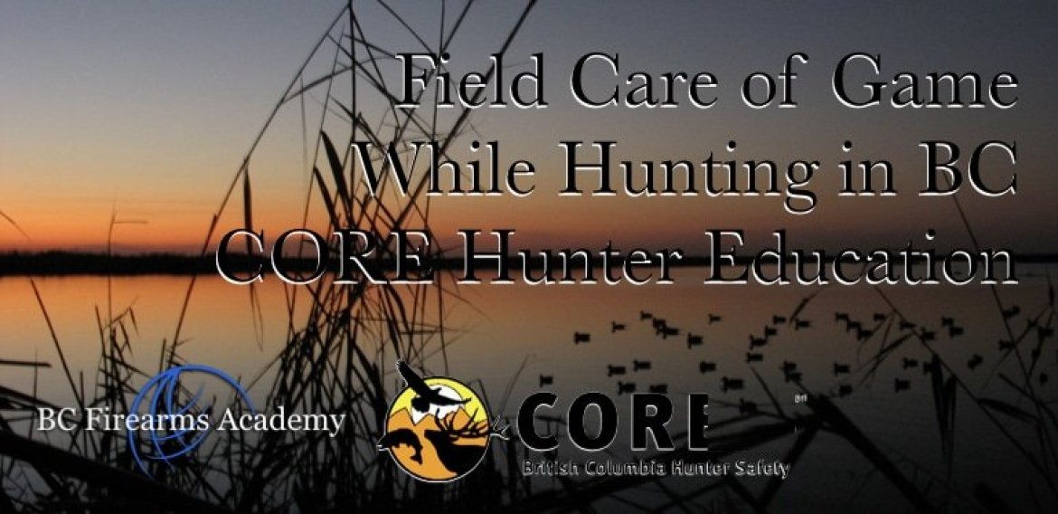 Field Care of Game While Hunting in BC CORE Hunter Education