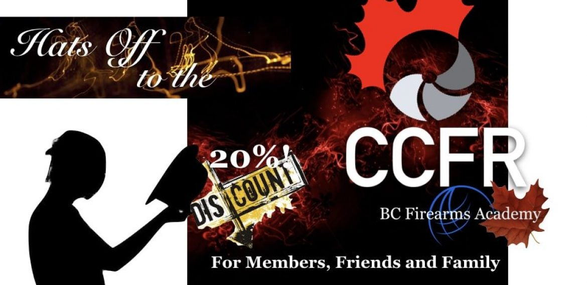 Members & Friends & Family of the CCFR Get 20% Discounts!