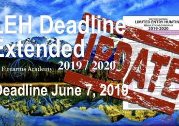 LEH Deadline for Applications Extended to 11:59:59 pm June 7, 2019, Limited Entry Hunting