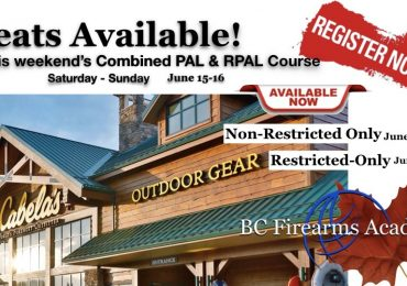 Still Room on BC Firearms Academy CFSC/CRFSC in Abbotsford This Weekend!