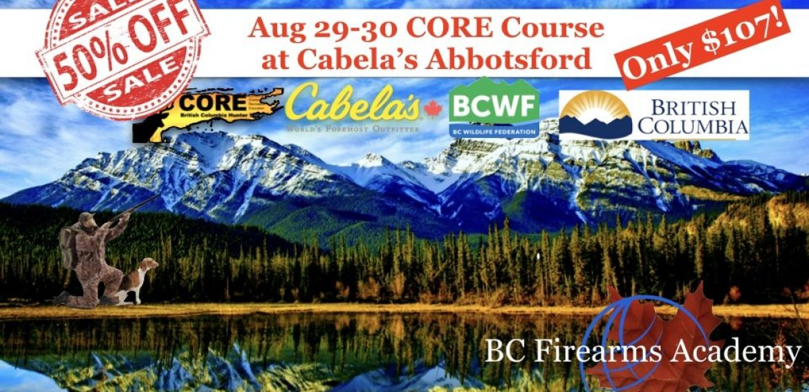 BC Firearms Academy is Excited to Offer 50% off of August 29-30 CORE