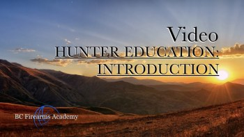 Hunter Education: Introduction