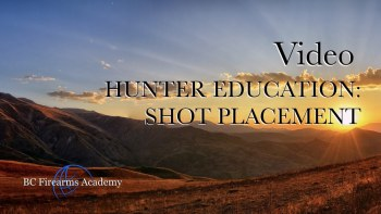 Hunter Education: Shot Placement